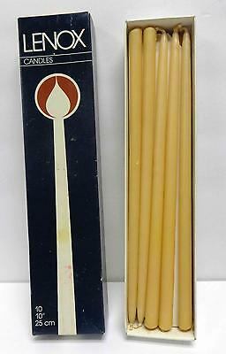 """10 Vintage Lenox 10"""" Tiny Tapers Candles Set Boxed!"""