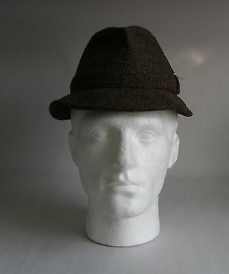 Vintage 50s Country Tweed Gents Field Hat by Failsworth. Size UK 6 & 5/8/ 54