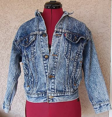 Vintage LEVIS 57508-0209 jean trucker RED TAB stonewashed demin JACKET Youth M