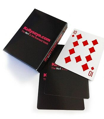 1 Pack Playing Cards Linen Finish Standard Size Easy Shuffle Black Deck Of Cards