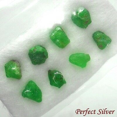 2 ct. 8 Pcs. 100% Unheated Natural Rough Green Emerald Colombia @ FREE SHIP