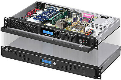 """1U ITX LCD (5.25"""" / 3.5""""HDD / 2x2.5"""" HDD) (Rackmount Chassis)(D:9.84"""" Case) NEW"""