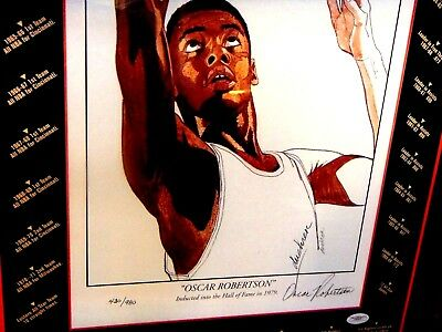 OSCAR ROBERTSON Signed Limited Ed.#430 of 980 17x26 Framed Photo/Print -JSA Auth