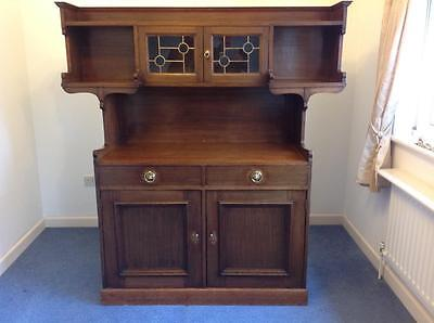 Antique Dresser Display Cabinet Oak Sideboard Country Arts & Crafts Rustic Chic