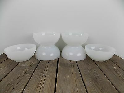 Lot of 6 Vintage Fire King White Milk Glass Soup Cereal Chili Bowls