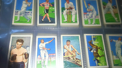 Full Set Gallaher CHAMPIONS A Series 1934 Cigarette Cards In Sleeves - Great Set
