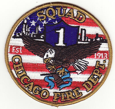 IL Chicago Illinois Squad 1  Fire Patch *New*