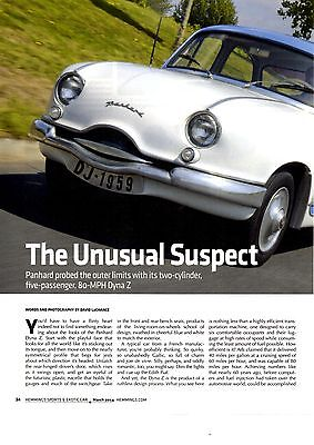 1954 Panhard Dyna Z  -  Great 4-Page Article / Ad