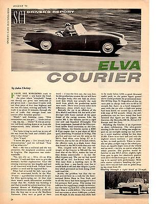 1958 Elva Courier  ~  Nice Original 2-Page Road Test / Article / Ad