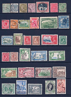 Jamaica Early issues. Fine Used and Mounted Mint