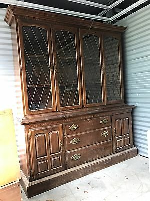 Ethan Allen China Cabinet Hutch Breakfront LOCAL PICKUP