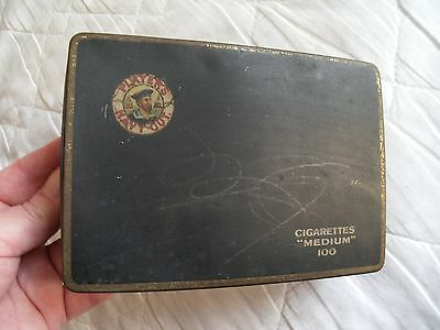 Vintage PLAYERS NAVY CUT Collectable Tin - Cigarettes Medium 100