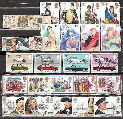 QEII 1982  6 used Commemorative sets (j241)