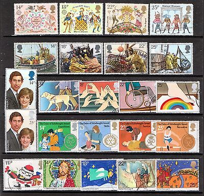 QEII 1981  6 used Commemorative sets (j484)