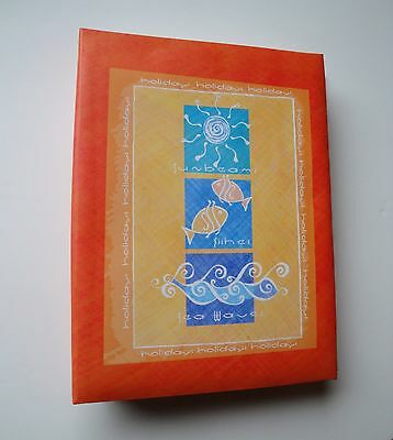 Orange Large 6x4 Photo Album Holds 200 Photos Slip In Memo & Negative Pouch NEW