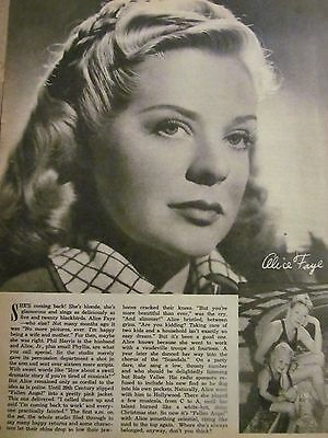 Alice Faye, Full Page Vintage Pinup