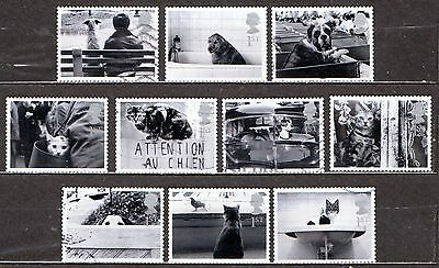 QEII 2001 Greetings stamps Cats & Dogs used set (j441)