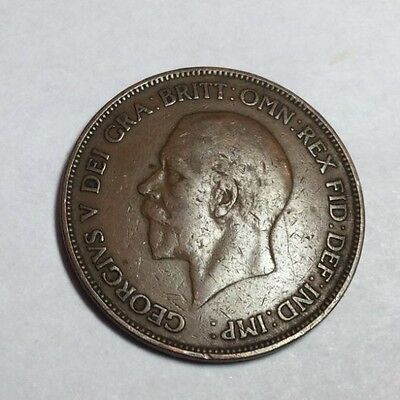 GREAT  BRITAIN 1929 1 Penny coin circulated