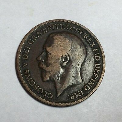 GREAT BRITAIN 1917 1 Penny coin circulated