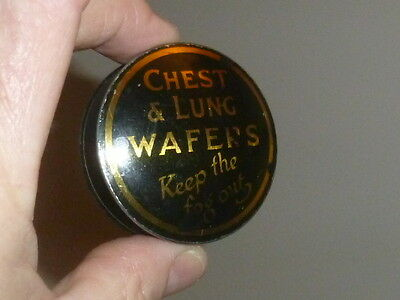 An Antique Advertising Chest & Lung Wafers/Potter's Catarrh Pastilles Tin-c1920.