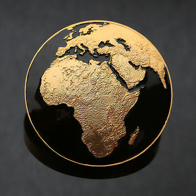 *SOLD OUT* Satin Gold/Black Global Nomad Geocoin - Geocaching