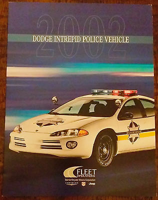 POLICE Vehicle Brochure 2002 Dodge Intrepid Patrol CHP Sheriff NEW see other itm