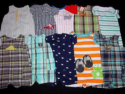 Used Baby Boy One Piece  0-3 3-6 Months Spring Summer Rompers Clothes Lot