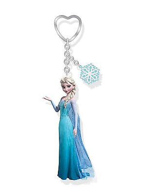 Genuine Disney Frozen 'Elsa' 3D Figure and Snowflake Charm Keyring Ideal Gift