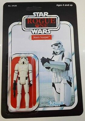Rogue One Storm Trooper Figure On Custom Designed Vintage Style Card Back