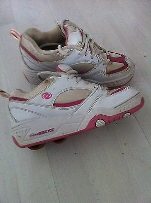 Girls Pink And White Heelys Roller Skates Size 3 More A 2