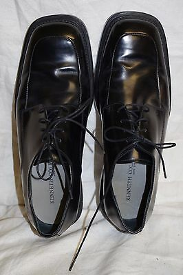 Kenneth Cole New York Oxford Mens Shoes Size 10 M Lace Up Black Leather Dress