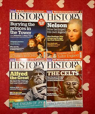 BBC HISTORY Magazine - 2013. SET of *FOUR* issues. Excellent Mint Condition