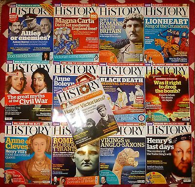BBC HISTORY Magazine - 2015. COMPLETE SET of 13 issues. Excellent Mint Condition