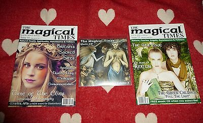 MAGICAL TIMES Magazine Set of 2 Back Issues + Music CD Pagan Druid Faery Angel