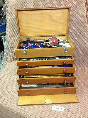 Vintage Engineers Tool Cabinet Full Of Tools - Lovely Condition - Free Postage