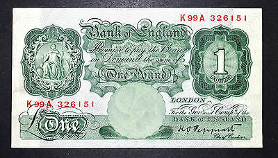 Bank of England B260 Peppiatt 1948 £1 Banknote * K99A 326151*