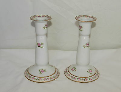 LIMOGES CANDLESTICKS ; Made by CHARLES AHRENFELDT ; Made for HARRODS , LONDON