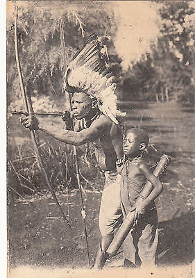 Africa  Martinique  Missionary Card  Hunting Gazelle    Saint Esprit