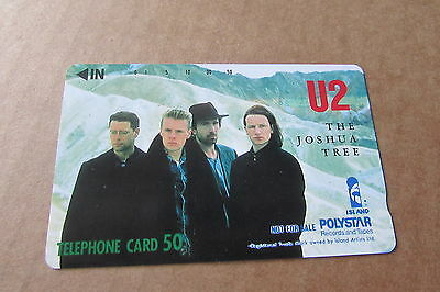 U2 Joshua Tree  Mint Unused Phonecard From Japan