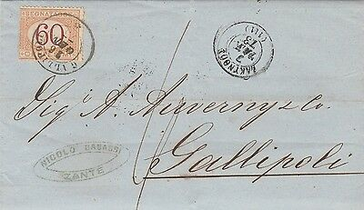 Italy , 1873, Fine Taxed Cover, See!!