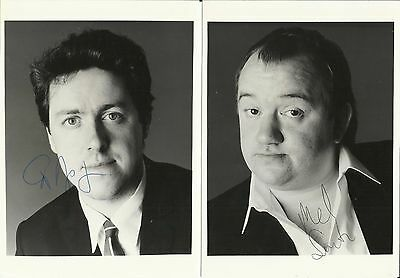 MEL SMITH (1952-2013) & GRIFF RHYS JONES, b/w glossy photos, ORIGINALLY SIGNED!