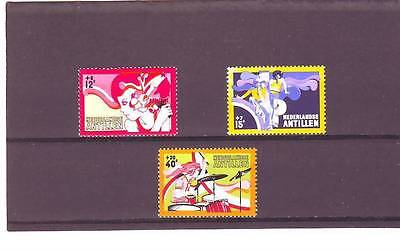 a114 - NETHERLANDS ANTILLES - SG586-588 MNH 1974 THE YOUNGER GENERATION