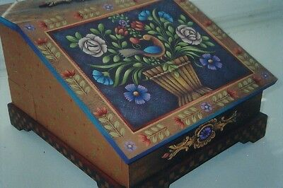 """Rosemary West tole painting pattern """"Folk Art Letter Box"""""""