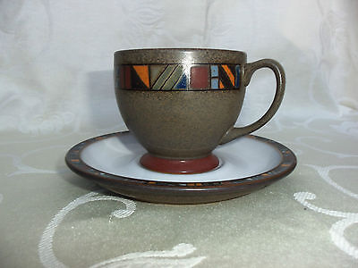Denby Marrakesh - Footed cup & saucer, lovely condition