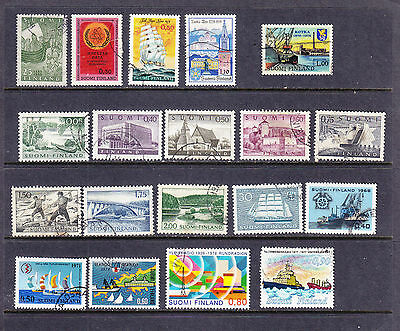 Finland postage stamps - 1955 - 79 - 19 x Used   - collection odds