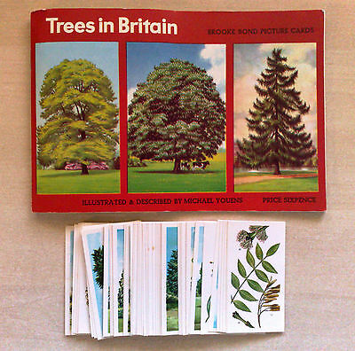 Brooke Bond tea cards - Tress in Britain FULL SET Loose with empty Booklet
