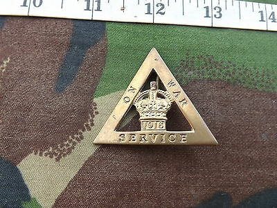 On War Service 1916 Female Munition Workers Triangle Badge