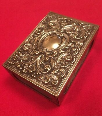 Antique Victorian Silver Plated Match Box Holder c.1880-1899