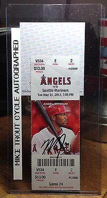 Mike Trout Autographed CYCLE ticket 5/21/2013 PSA/DNA