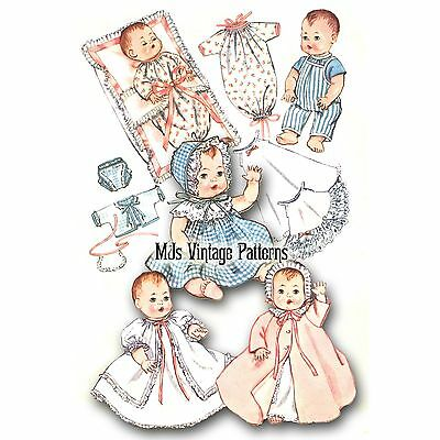 """Vintage 1950s Doll Clothes Pattern ~ 15"""" 16"""" 17"""" Tiny Tears, Betsy Wetsy, Dy Dee"""